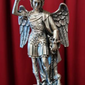 S. Michele cm. 20 in metallo argentato